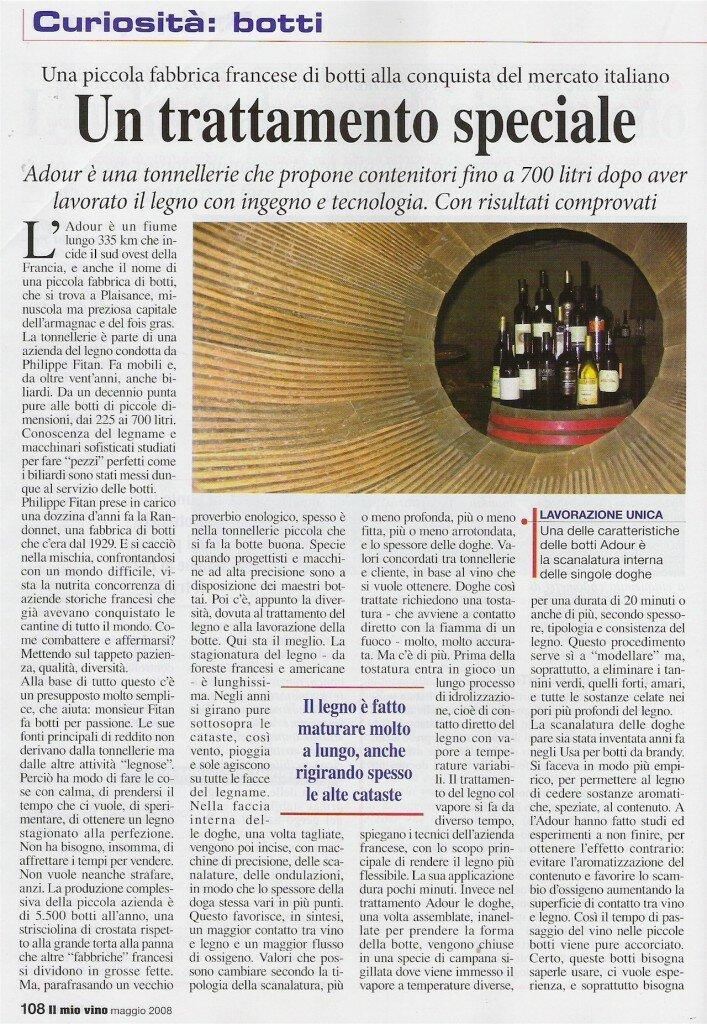 2008 Articolo Il Mio Vino Maggio 2008 1-small