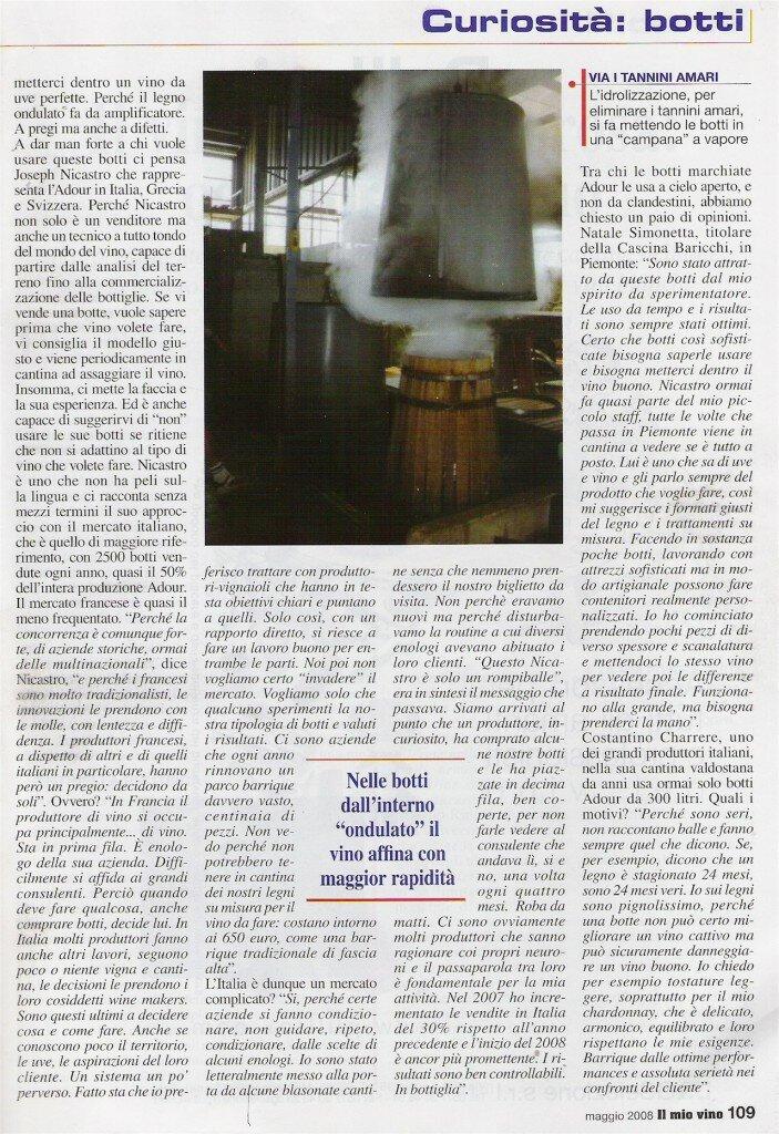 2008 Articolo Il Mio Vino Maggio 2008 2-small