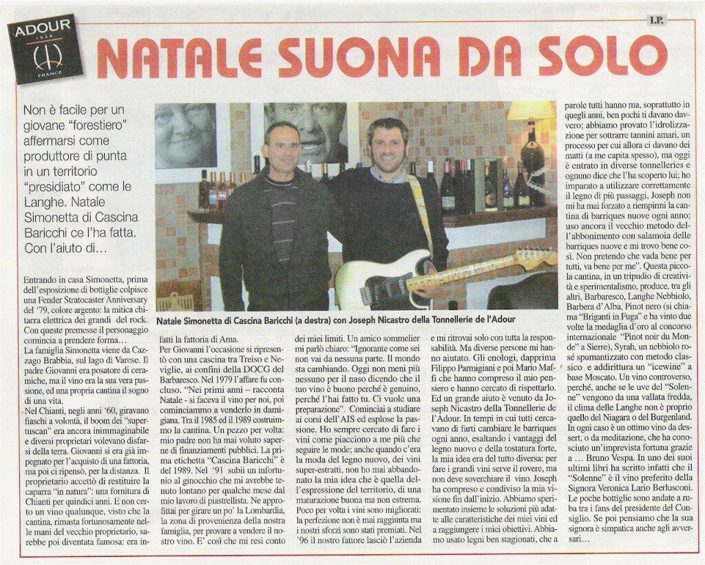 2008 Articolo Mille Vigne Natale suona da solo decembre 2008-small