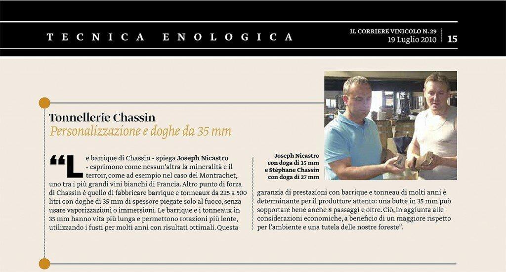 2010 Speciale_botti e barrique  Corriere Vinicolo 19 07 2010